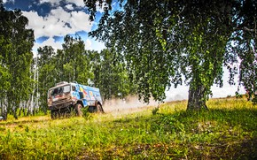 Picture The sky, Nature, Trees, Sport, Speed, Truck, Race, Master, Beauty, Russia, Beast, Kamaz, Rally, Rally, …