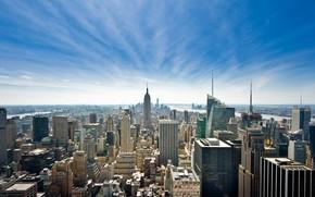Picture the sky, New York, skyscrapers, panorama, USA, Manhattan