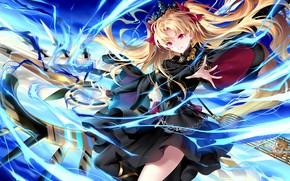Picture girl, smile, blonde, Fate / Grand Order