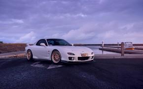 Picture Mazda, Car, Front, White, Sunrise, RX-7, Sport