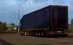 Picture Power, Front, Scania, Trailer, R730, Parking, Diesel, Face, Low, stock, elsa3dany1design, EuroTruckSimulator, elsa3dany1, Euro 6, …