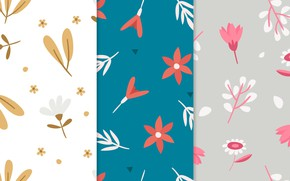 Picture background, pink, blue, texture, patterns, flowers, beige, pretty