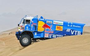 Picture Sand, Truck, Race, Master, Russia, 500, Kamaz, Rally, Dakar, Dakar, Rally, KAMAZ, The roads, RedBull, …