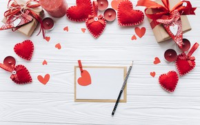 Picture holiday, handle, hearts, Notepad, Valentine's day, Valentine's day