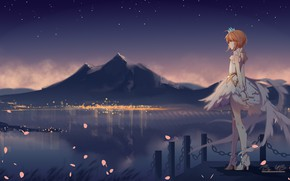 Picture night, Sakura, girl, Card Captor Sakura