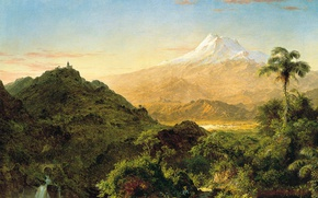 Picture Palma, Frederic Edwin Church, nature, South American Landscape, mountains, picture