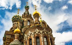 Wallpaper Church of the Savior on Blood, blue sky, Saint Petersburg