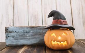 Picture holiday, hat, pumpkin, Halloween