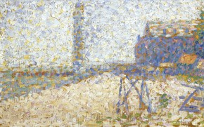 Picture picture, pointillism, Georges Seurat, Georges Seurat, Hospice and lighthouse Honfleur