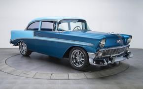 Wallpaper retro, coupe, Chevrolet, Bel Air, 1956