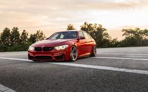 Picture BMW, RED, Vossen, F80