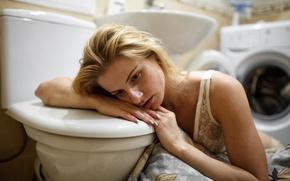 Picture girl, the toilet, washing machine, Taha Filatova, bad