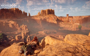 Picture The sky, Nature, Clouds, Girl, Mountains, Playstation, PS4 Pro, Horizon Zero Dawn, Eloy