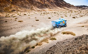 Wallpaper The sky, Sand, Nature, Dust, Sport, Speed, Race, Master, Hills, Beauty, Russia, 307, Kamaz, Rally, ...