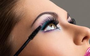 Picture woman, eyes, eyelashes, Makeup