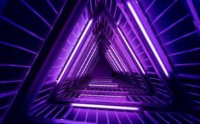 Picture purple, neon, ladder, light, neon, purple, ladder