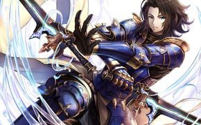 Picture sword, game, armor, anime, ken, blade, asian, warrior, japanese, oriental, Granblue Fantasy, Granblue Fantasy: The …