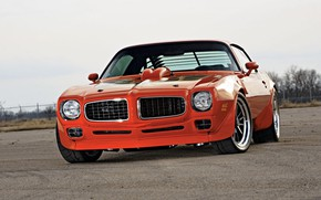 Picture Orange, Trans Am, Pontiac Firebird, Muscle classic
