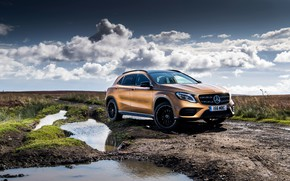 Picture Mercedes-Benz, the roads, GLA, 4MATIC, 220d, AMG Line