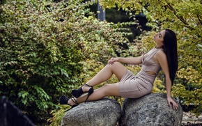 Picture sexy, stones, dress, brunette, studs, legs, Paola Martorell