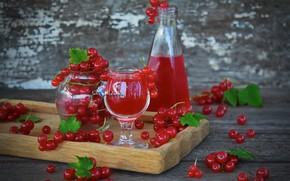Wallpaper juice, red currant, drink, berries, currants