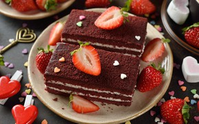 Picture berries, strawberry, cakes, Cake