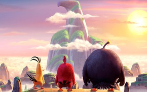 Picture Red, game, birds, eagle, film, animated, angry, Angry Birds, animated movie, Bomb, montain, Chuck, AB