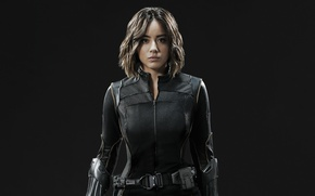 Wallpaper girl, spy, brunette, agent, uniform, seifuku, Chloe Bennet, tv series, SHIELD, Daisy Johnson, Agent Of ...