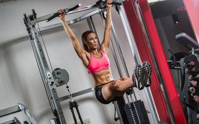 Wallpaper female, workout, fitness, abs