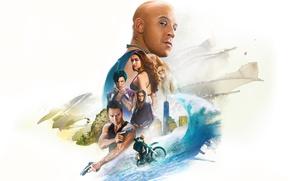 Picture cinema, girl, Nina Dobrev, actor, man, movie, Vin Diesel, film, actress, Deepika Padukone, official wallpaper, …