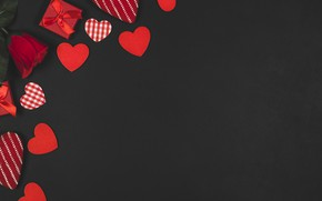 Wallpaper Valentine's day, Valentine's day, background, Holiday, Rose, Hearts