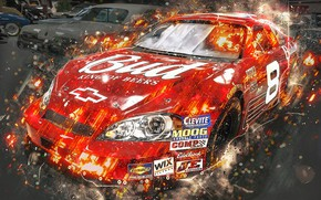 Picture design, background, NASCAR, race car