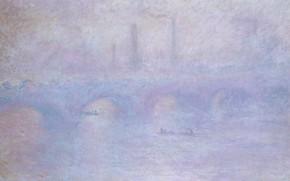 Picture landscape, picture, Claude Monet, Waterloo Bridge. The fog effect