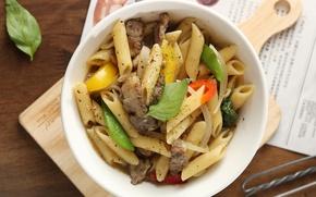 Picture dish, pasta, Basil