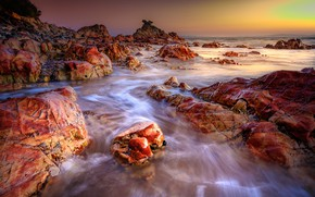 Picture landscape, stones, the ocean, coast, Nature