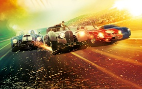 Picture the city, glare, background, race, speed, highway, sparks, Thriller, poster, cars, Scott Eastwood, Scott Eastwood, …