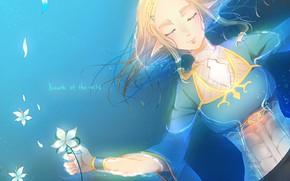Picture girl, game, flower, Zelda, hana, The Legend Of Zelda, The Legend Of Zelda Breath Of …