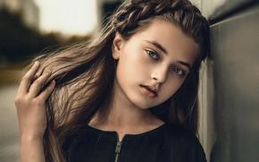 Picture portrait, girl, Chris Sliwaq