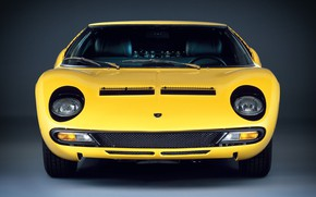 Picture Color, Auto, Lamborghini, Machine, Eyes, 1971, Lights, Car, Supercar, The front, Lamborghini Miura, P400, Lamborghini …