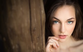 Picture girl, Model, green eyes, photo, photographer, lips, face, brunette, Lilly, portrait, mouth, looking at camera, …