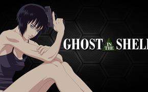 Picture girl, gun, weapons, legs, Ghost in the Shell, The Fireworks Kusanagi, Motoko Kusanagi, Ghost in …