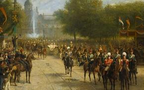 Picture picture, genre, Accession of Queen Wilhelmina in Amsterdam, Otto Erelman