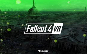 Picture city, green, game, Fallout, Fallout 4 VR