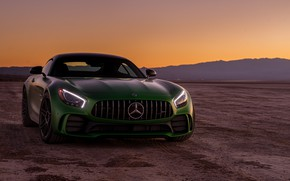 Picture green, style, the front, Mercedes GTR
