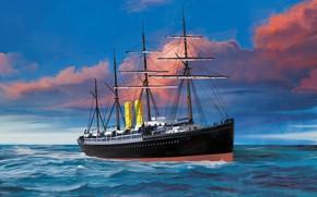 Picture wave, ship, Transatlantic Ships, ormuz