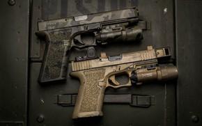 Wallpaper background, guns, pair, weapons