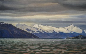 Picture sea, mountains, nature, picture, Seascape, Rockwell Kent, Rockwell Kent