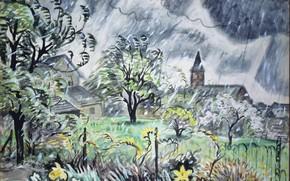Wallpaper 1948, Early Spring, Charles Ephraim Burchfield, (May)