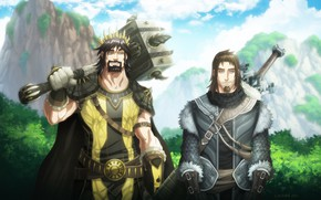 Picture sword, warhammer, armor, weapon, ken, wolf, blade, A Song of Ice and Fire, Game of ...