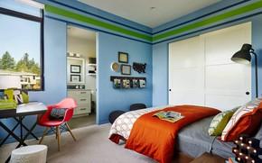 Wallpaper room, interior, Sandhill Crane, bedroom